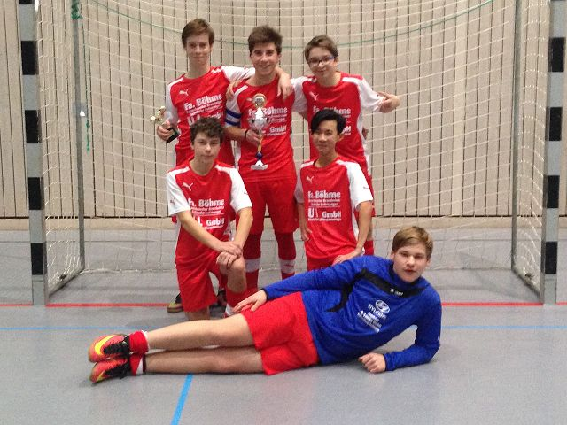 Gruppenfoto B-Junioren zum Futsal Kreispokalfinale