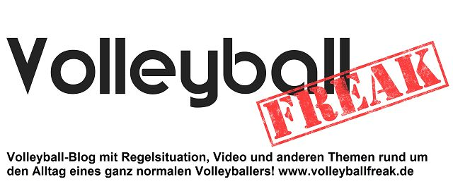 Das ist das Logo des Volleyballblogs Volleyballfreak
